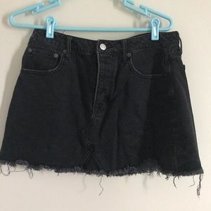 AE Black Jean Skirt